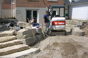 acorn Landscaping provides landscaping services like installing a new look to a back yard.